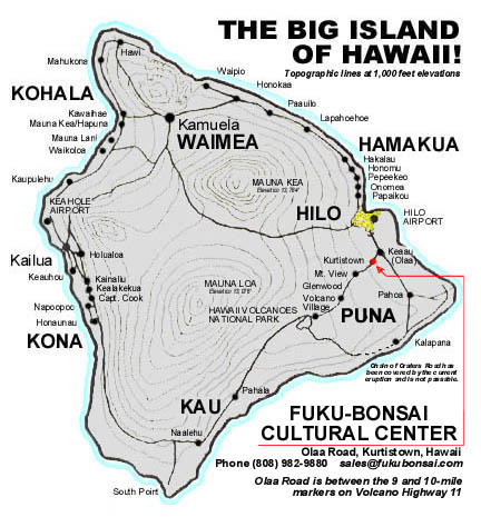 Big Island Map Authorized Retailers
